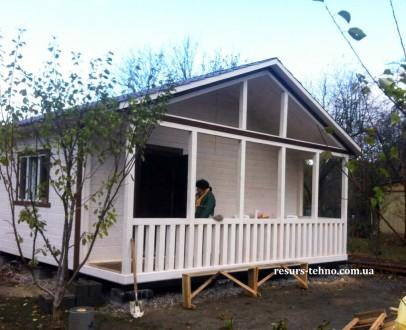 Дачные домики из дерева.Утеплённые для любого времени года.От 3000грн за м/кв.Ва. Киев, Киевская область. фото 8