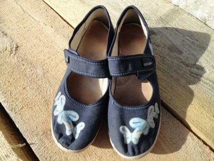 Туфли джинсовые для девочки. Приморск. фото 1