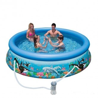 Надувной бассейн басейн Intex 54906. Семейный Easy Set 366 х 76 см. Днепр. фото 1