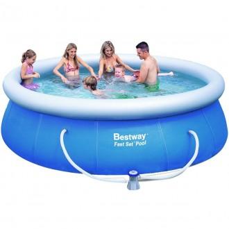 Надувной бассейн басейн Bestway 57263. Семейный Fast Set 366 х 91 см. Днепр. фото 1