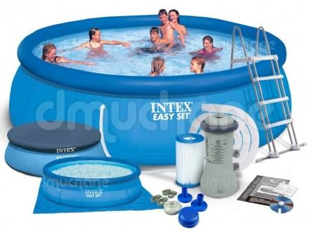 Надувной бассейн басейн Intex 28168 (54916). Семейный Easy Set 457 х 122 см. Днепр. фото 1
