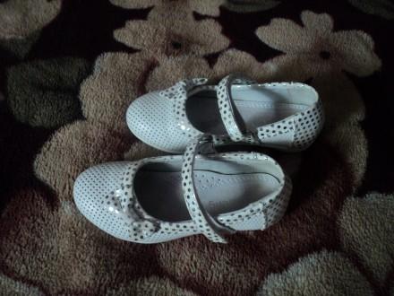 Нарядные туфельки для Вашей принцессы 26 размер(состояние новых). Чернигов. фото 1