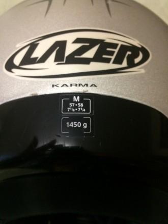 Мотошлем LAZER Karma (Бельгия), Размер M (57-58). Шлем изготовлен из материала . Киев, Киевская область. фото 5