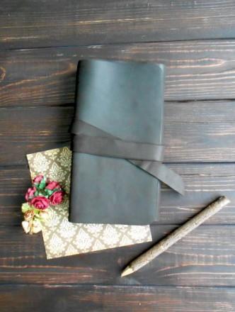 Блокнот с поясом. Темно коричневого цвета, для себя или на подарок. Харьков. фото 1