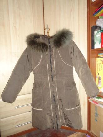 Пальто зимнее детское на девочку. Приморск. фото 1