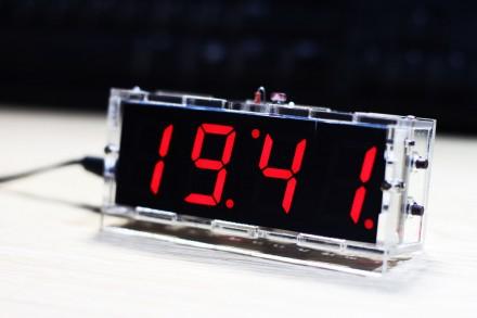 Часы настольные с питанием от USB. Харьков. фото 1