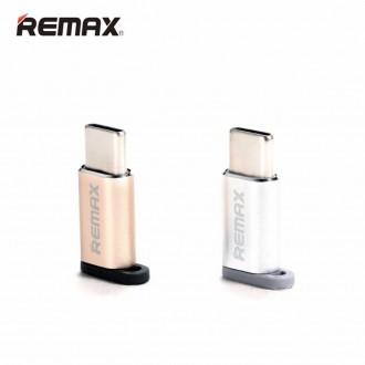 Переходник Type-C папа на микро USB маму    Адаптер Remax Feliz RA-USB1 micro. Киев, Киевская область. фото 3