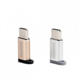 Переходник Type-C папа на микро USB маму    Адаптер Remax Feliz RA-USB1 micro. Киев, Киевская область. фото 4