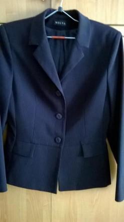 Черный деловой костюм-двойка. Кропивницький. фото 1