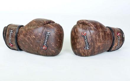 Перчатки боксерские кожаные на липучке. Цвет: коричневый Размер: 10 и 12 oz. Одесса, Одесская область. фото 5