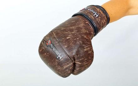 Перчатки боксерские кожаные на липучке. Цвет: коричневый Размер: 10 и 12 oz. Одесса, Одесская область. фото 4