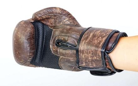 Перчатки боксерские кожаные на липучке. Цвет: коричневый Размер: 10 и 12 oz. Одесса, Одесская область. фото 6