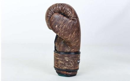 Перчатки боксерские кожаные на липучке. Цвет: коричневый Размер: 10 и 12 oz. Одесса, Одесская область. фото 3