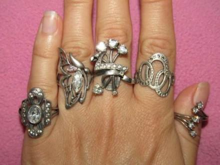 Серебряные кольца 925 пробы из личной коллекции.Не дорого!!!. Днепр. фото 1