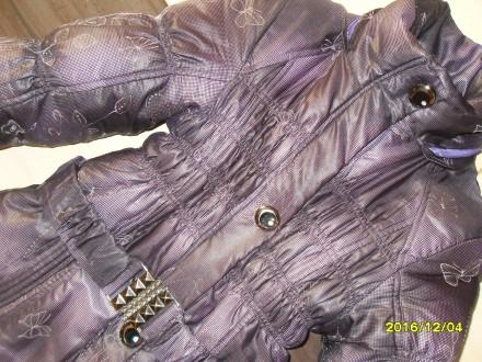 курточка теплая пуховик на девочку  10-12лет. Николаев. фото 1