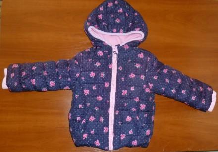 Стьобана куртка у квіточку MotherCare. Токмак. фото 1