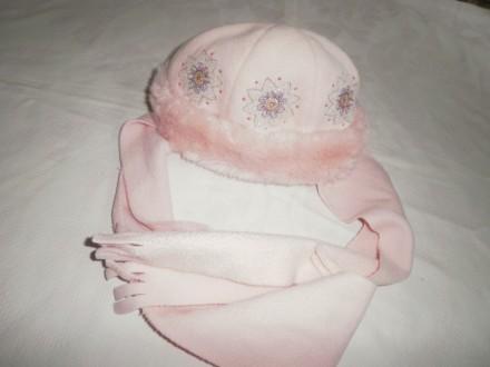 Продам шапку+шарф флис на девочку TuTu (Польша)р 50-52. Харьков. фото 1