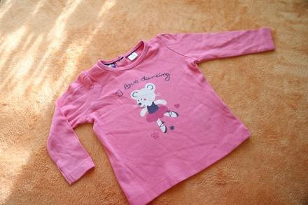 Кофточка, реглан, футболка с длинным рукавом на девочку 4-6 мес., 62-68 см. , Lu. Днепр. фото 1
