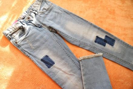 Продам стильные джинсы весна/лето на девочку 9-10 лет, р.140, Alive. Днепр. фото 1