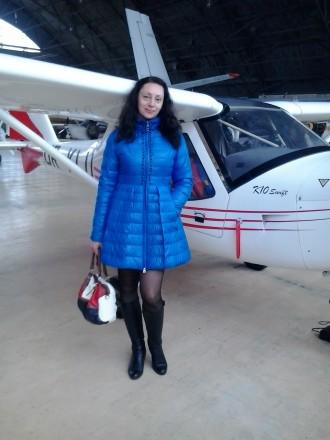 Женское стеганное пальто.. Киев. фото 1