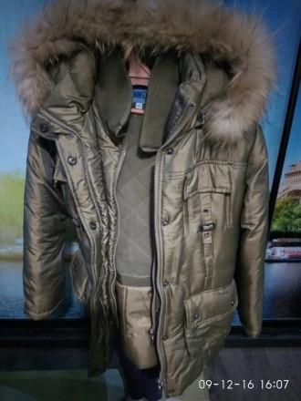 Продам куртку зимнюю. На рост 146 см. Двойная застежка. Двойная манжета. Идеальн. Алешки (Цюрупинск), Херсонская область. фото 3