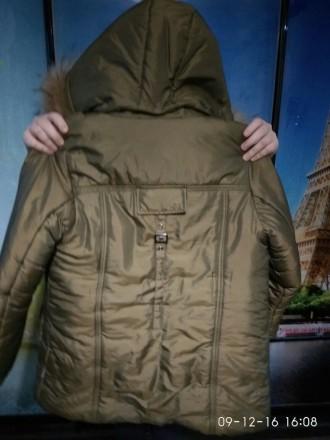 Продам куртку зимнюю. На рост 146 см. Двойная застежка. Двойная манжета. Идеальн. Алешки (Цюрупинск), Херсонская область. фото 4