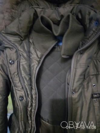 Продам куртку зимнюю. На рост 146 см. Двойная застежка. Двойная манжета. Идеальн. Алешки (Цюрупинск), Херсонская область. фото 1