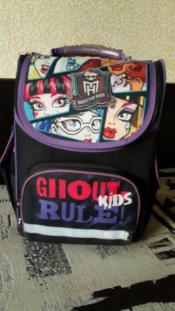 Ортопедический каркасный рюкзак Kite для девочки Monster High. Сумы. фото 1