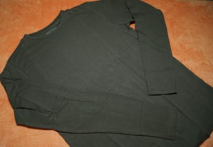 Однотонный реглан, футболка с длинным рукавом на мальчика 14-15 лет. Германия. Днепр. фото 1