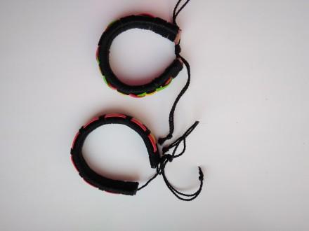 Оригинальные парные браслеты хендмейд.  Выполнены в одной технике, в одной цве. Кропивницкий, Кировоградская область. фото 3