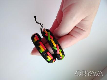 Оригинальные парные браслеты хендмейд.  Выполнены в одной технике, в одной цве. Кропивницкий, Кировоградская область. фото 1