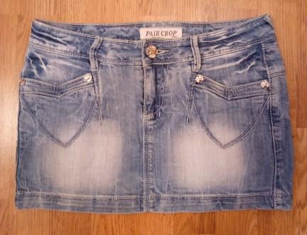 Юбка джинсовая об до 90 см. Днепр. фото 1