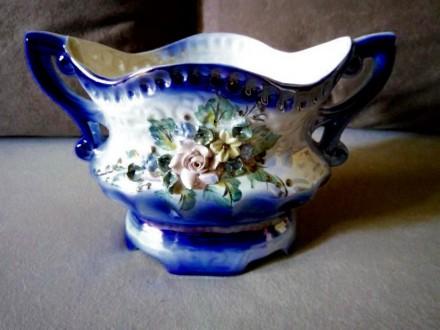 Антикварная керамическая ваза, конфетница, фруктовница .. Николаев. фото 1