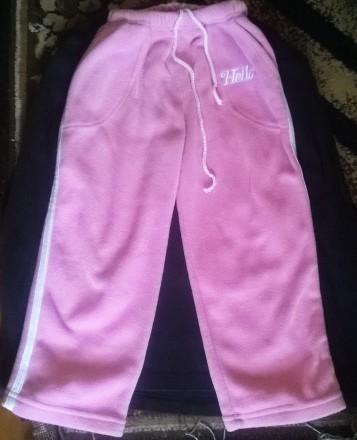 Теплые флисовые спортивные штаны на 3-5 лет, рост 100-113 см. Кропивницкий. фото 1