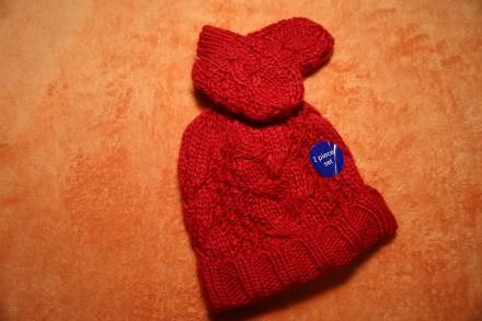 Демисезонный комплект шапочка варежки Mothercare на девочку 6-12. Днепр. фото 1