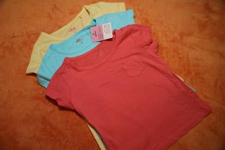 Однотонные футболки на девочек 5-6 лет110-116, Германия. Днепр. фото 1