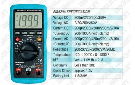 Універсальний цифровий мультиметр EM420A. Ивано-Франковск. фото 1