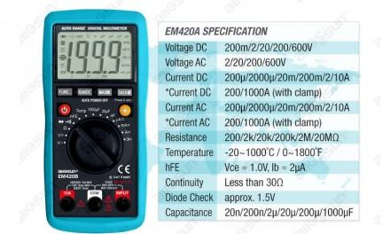 Універсальний цифровий мультиметр EM420В. Ивано-Франковск. фото 1