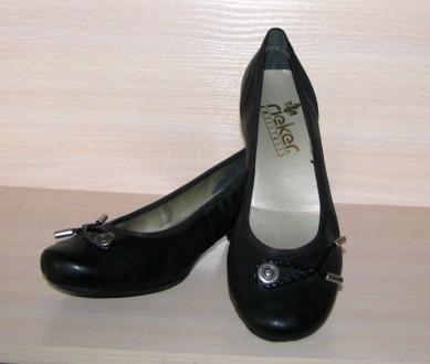 Новые туфли-балетки на каблуке Rieker Antistress Германия р.40. Запорожье. фото 1