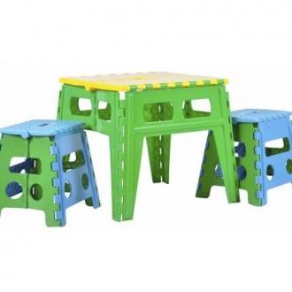 Раскладной стол пластиковый для взрослых и детей. Бердянск. фото 1