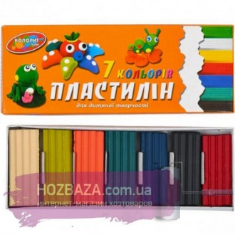 Пластилин 7 цветов, 150 грамм.. Харьков. фото 1