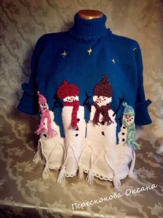 Пончо с рукавами для девочки 9 -11 лет.. Винница. фото 1