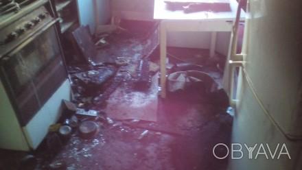 Безусловно, уборка квартир после пожара – максимально сложное и кропотливое меро. Донецк, Донецкая область. фото 1