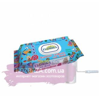 Влажные салфетки для детей «FLORIKA» Aloe Vera с клапаном 70 шт.. Харьков. фото 1