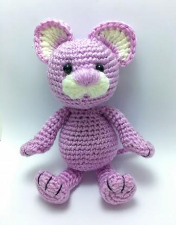 Мягкая игрушка вязаная мышка. Верхнеднепровск. фото 1