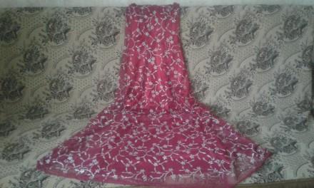 СКИДКА - при заказе нескольких товаров!  Атласное платье красного цвета, верх . Киев, Киевская область. фото 9