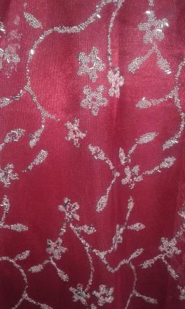 СКИДКА - при заказе нескольких товаров!  Атласное платье красного цвета, верх . Киев, Киевская область. фото 12