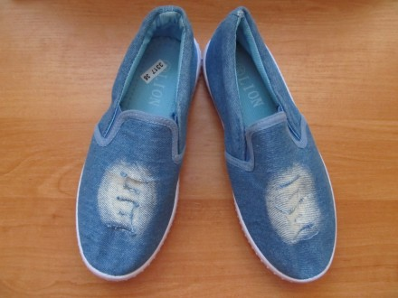 Слипоны,мокасины джинсовые для мальчика. Київ. фото 1