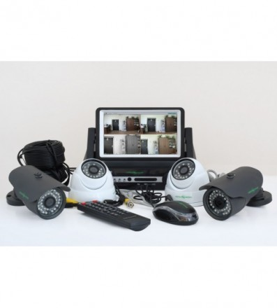 Комплект Видеонаблюдения GreenVision GV-K-M 7304DP-CM02 LСD. Ивано-Франковск. фото 1