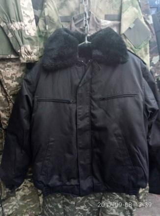 Куртки зимние черного цвета для охранников и рабочих. Хмельницкий. фото 1
